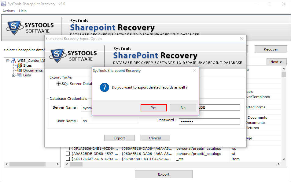Do you want to recover deleted record